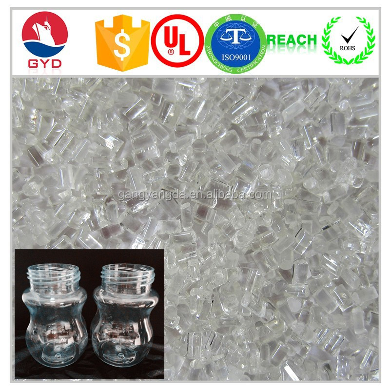 Plastic Bottle materials Transparent Food grade PC Polycarbonate resin price