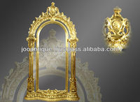 Large Antique Carved Gold Gilt Wall Mirror Style French Antique Reproduction Mirror