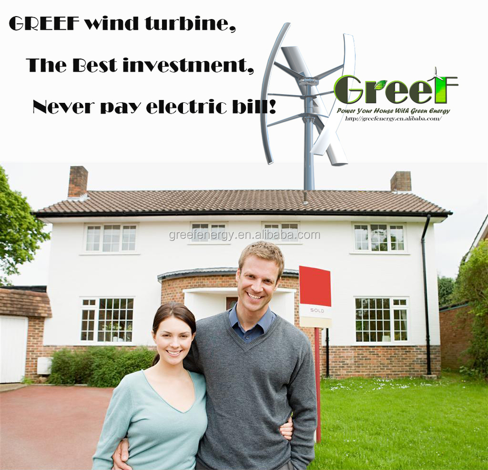 Small Wind Turbine For Home Use Part - 41: 3kw 5kw Small Home Use 2kW Vertical Axis Wind Turbine For Sale