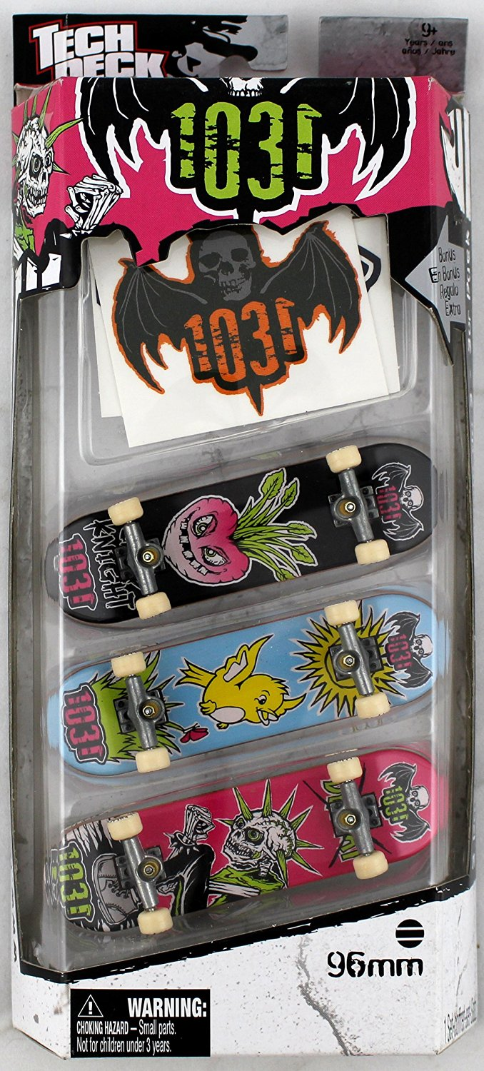 Buy 3 TECH DECK FINGERBOARDS 96mm and STICKERS - 1031 BOARDS