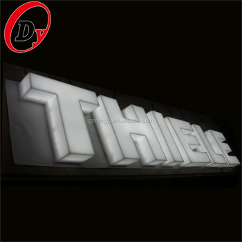 professional illuminated 3D LED channel letter sign opal white plastic acrylic alphabet letter