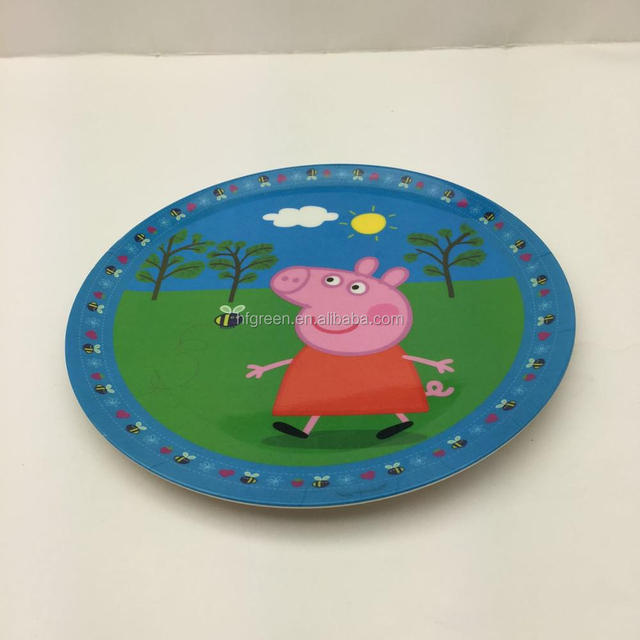 cheap disposable cute printing bio bamboo fiber round plates & China Cheap Disposable Plate Wholesale ?? - Alibaba