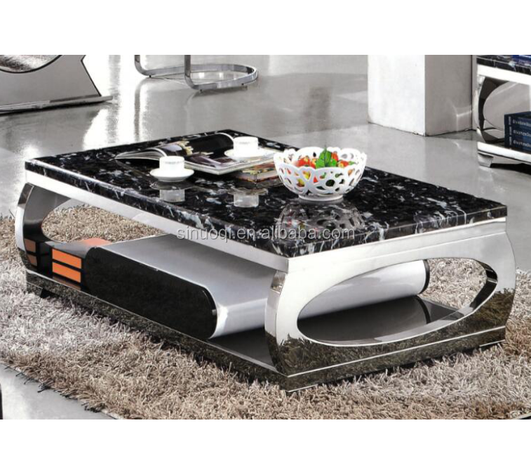 Hot Sale Marble Top Center Table Fancy Modern Marble Coffee Table