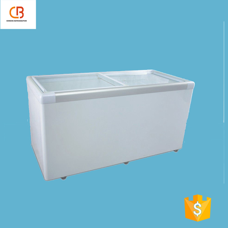 Made in china OEM glass door commercial refrigeration equipment
