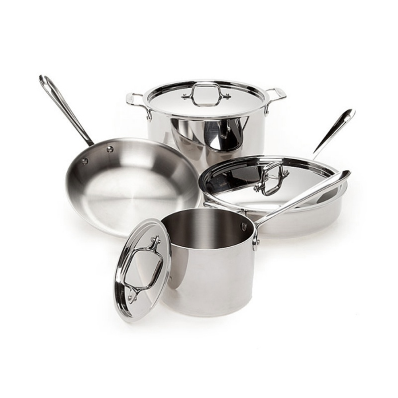 201 Kitchen Cookware Sets Stainless Steel Cooking Pots and Pans with Low Price