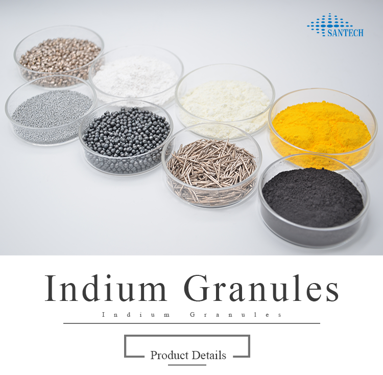 China Factory Supply High Purity 99.99% 99.999% Indium Granule for sale