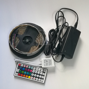 High Brightness 30/60/72/90/144 LED/m Rope Light+Driver+Controller with Remote SMD 5050 RGB LED Strip Kit