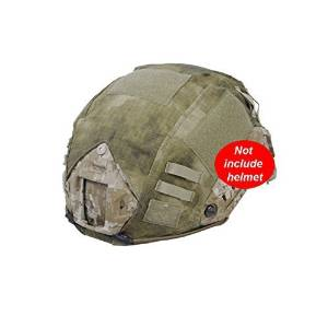 H World Shopping Military Hunting Shooting Gear Combat Fast Helmet Cover PJ BJ Base Jump Camouflage Helmet Cover for Army Tactical Airsoft Paintball, without Helmet