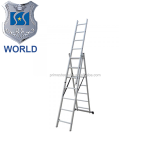 2016 new Telescopic Loft Ladder 3.8 Meters Multipurpose with Platfor Hot selling High Quality EN131-6 Approved aluminum portable