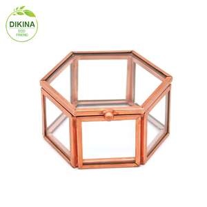 Storage Ring Display Box Jewelry Organizer Wedding Ring Box, Rustic Ring Bearer Box, Personalized rose gold glass large ring box
