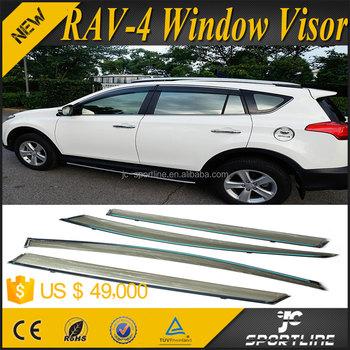 Window Deflectors Visor Vent Shade Rain/sun/wind Guard For Toyota ...