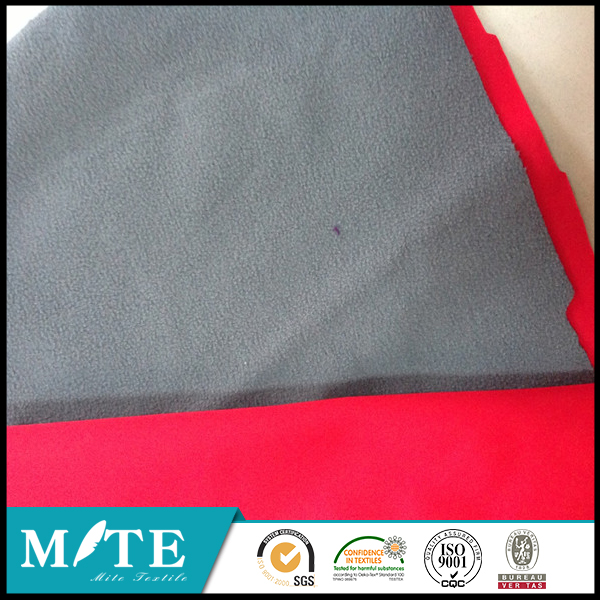 Winter item 2 layers 100% polyester polar fleece fabric bonded sharp fleece for Jacket fabric