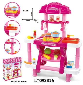 Kitchen Set Toys Kids Cooking Play