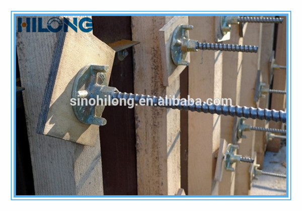 Steel Formwork 16mm Tie Rod For Concrete Wall Forming