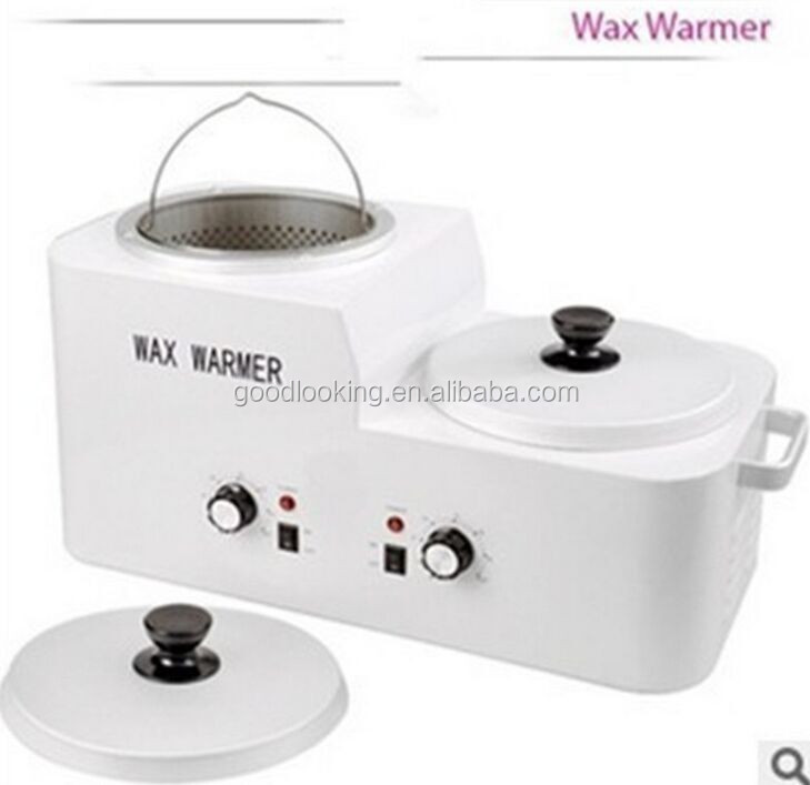 2015 high quality large double wax heater , hair remove wax heater/warmer