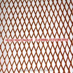 Anping Factory Copper sheet expanded metal mesh/Red copper expanded metal rolls