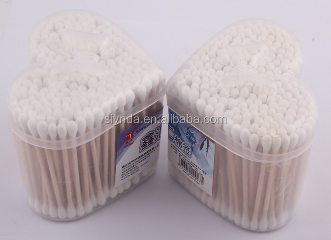 heart shaped box packing cotton buds