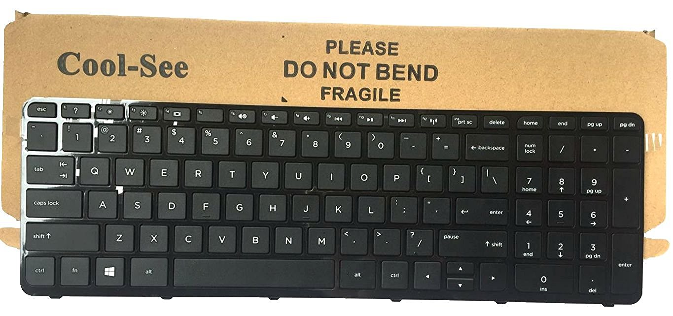 New US Black Keyboard with Frame for HP Pavilion 15-r 15-r000 15-r030wm 15-r035TX 15-r036 15-r011dx 15-r110dx 15-r052nr 15-r053cl 15-r015dx 15-r017dx 15-r018dx 15-r024nr 15-r058no15-r059no 15-r063nr