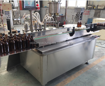 automatic glass bottle filling capping machine