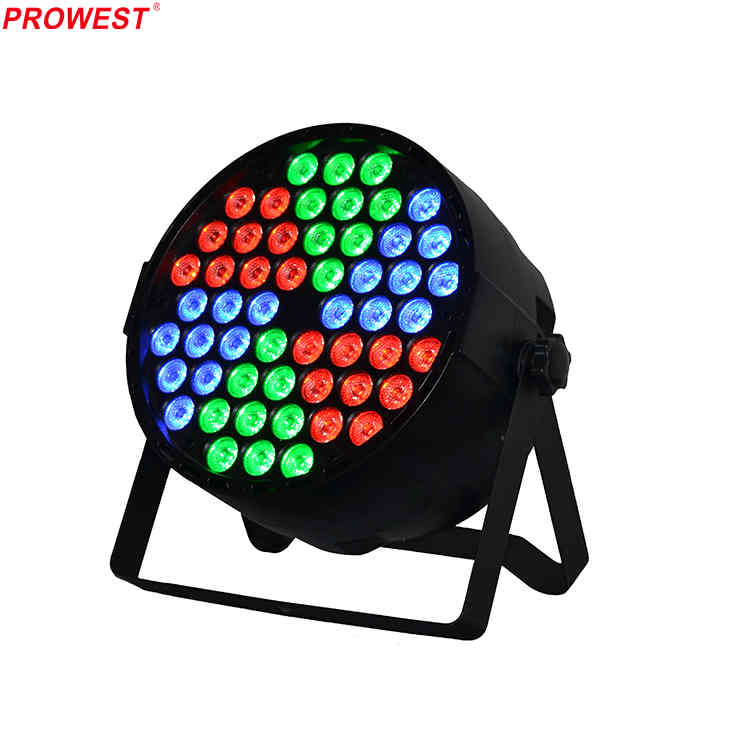 54pcs RGB 3in1 Plastic LED Par Can Light