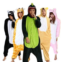 Panda Stitch Unicorn Unisex Flannel Hoodie Pajamas Costume Cosplay Animal Kigurumis Onesies Sleepwear For Adults Women Men Child