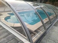Transparent solid Polycarbonate panel swimming pool cover