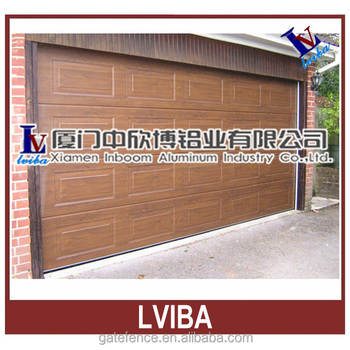 China made wood grain automatic garage door buy for Wood grain garage doors