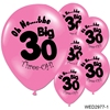 "Wedding Anniversary Happy Birthday Balloons Adults Party Decor Supplies""No...The Big 30"" Latex Balloons 30th birthday balloon"