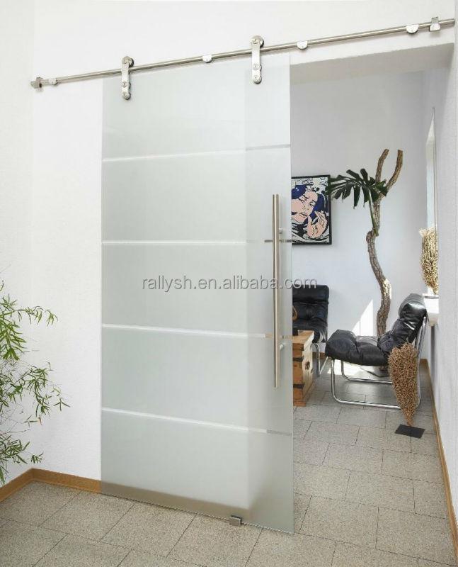 de vidrio sin marco moderno diseo de corredera granero puerta mampara de cristal