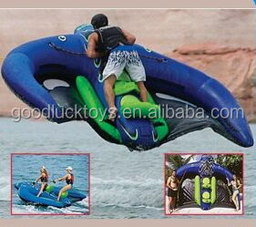 Manta Ray Inflatable Watercraft /inflatable towable water sports inflatable flying manta ray for water game