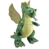 Lifelike Green Plush Dinosaur With Wings Wholesale Custom OEM Stuffed Animal Plush Soft Toy Dragon