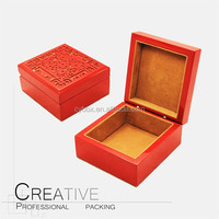 manufacturers supply wood engraving gift packing box