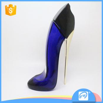 02e861202 A3499-90ML venda quente de alta qualidade azul sapato de salto alto forma  garrafa de