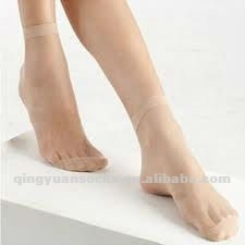 disposable transparent silk socks women