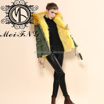 Chinese Clothing Manufacturers Wholesale Yellow Fox Fur Collar ...