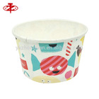 Food Grade Company Logo Printed Disposable Paper Cups Ice Cream