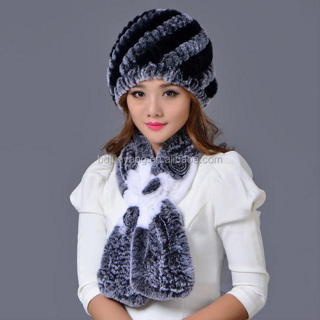 Good quality winter knitted fur pom pom beanie hat crochet baby cowboy hat  pattern 0e5217f2022c