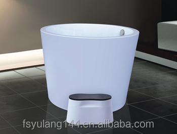 AD 6612 Very Small Deep Bathtub 110cm One Person Hot Tubs Oval Cheap Bathtub  Price
