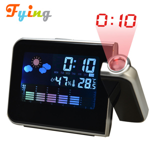 best wholesaler PROJECT alarm clock, color screen calendar clock, desktop projection clock