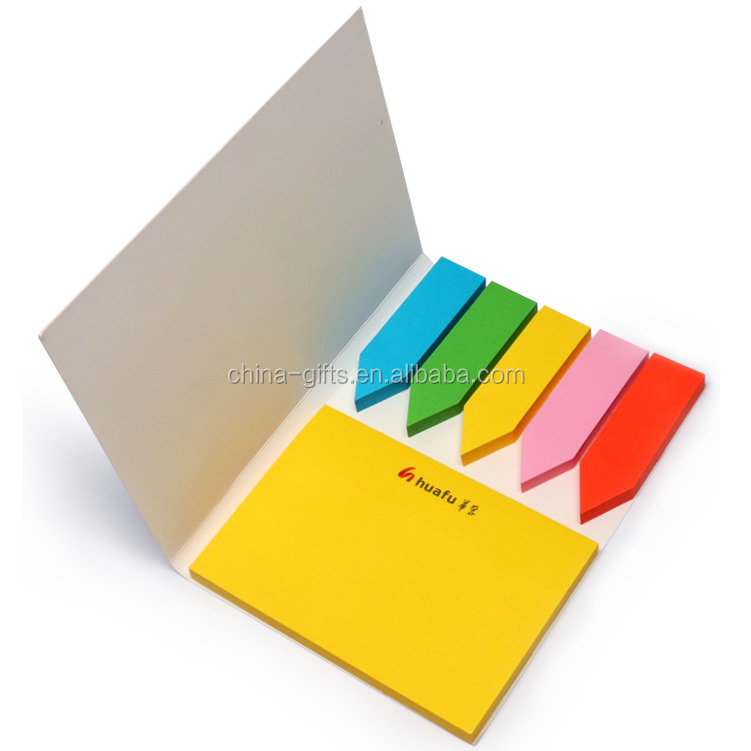 arrow shaped colorful sticky notes