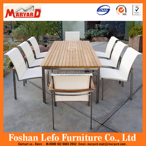 Stainless steel frame recycled outdoor furniture