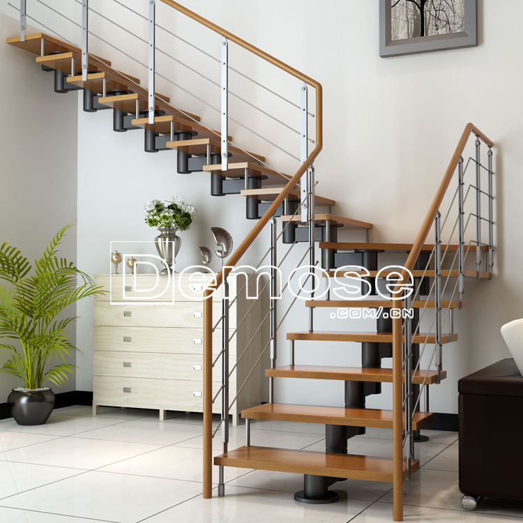 Exterior Wood Stair Railing Design Deck Wooden Staircase Designs Kerala