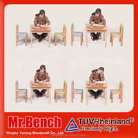 Kids wood table furniture for children ,High Quality baby table chair