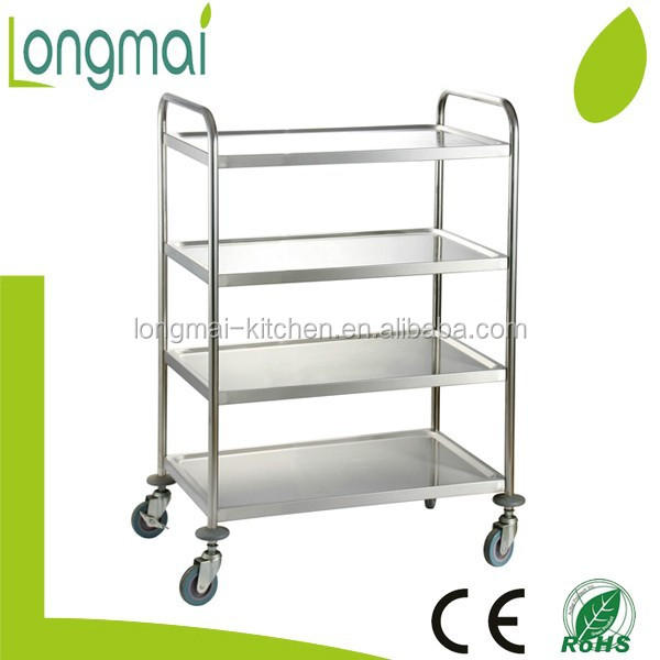 LRPC-L4 / restaurant supplies 4 layer round tube stainless steel hotel room service cart