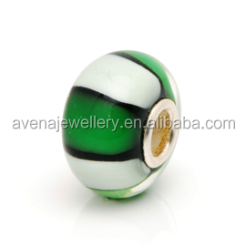 DIY Fashion Murano Beads Flower Lampwork Big Hole Glass Charms and Lampwork Glass Beads European Charms