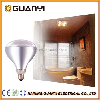 Ir125 Clear Halogen Infrared Heating Bulb For Bathroom Light And