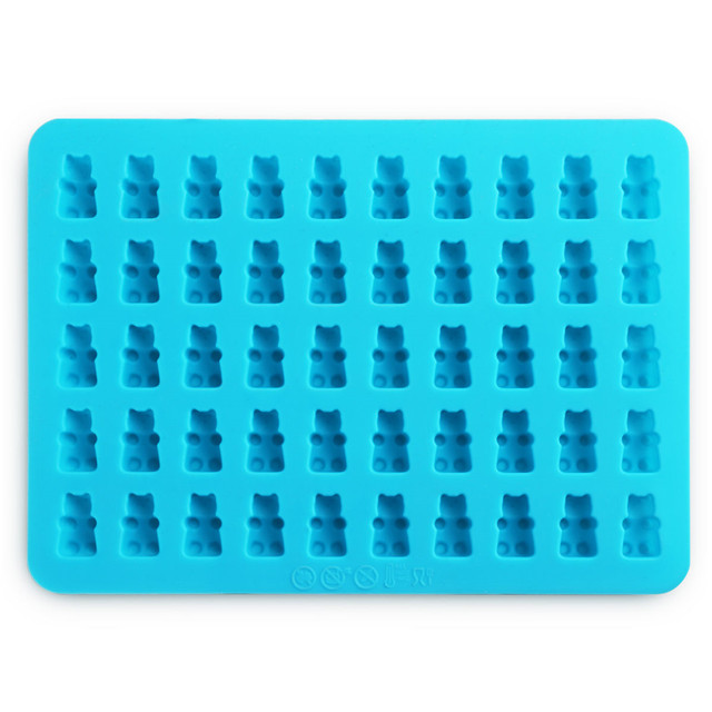 50 Cavity Candy Maker Ice Tray Jelly Silicone Gummy Bear Mold