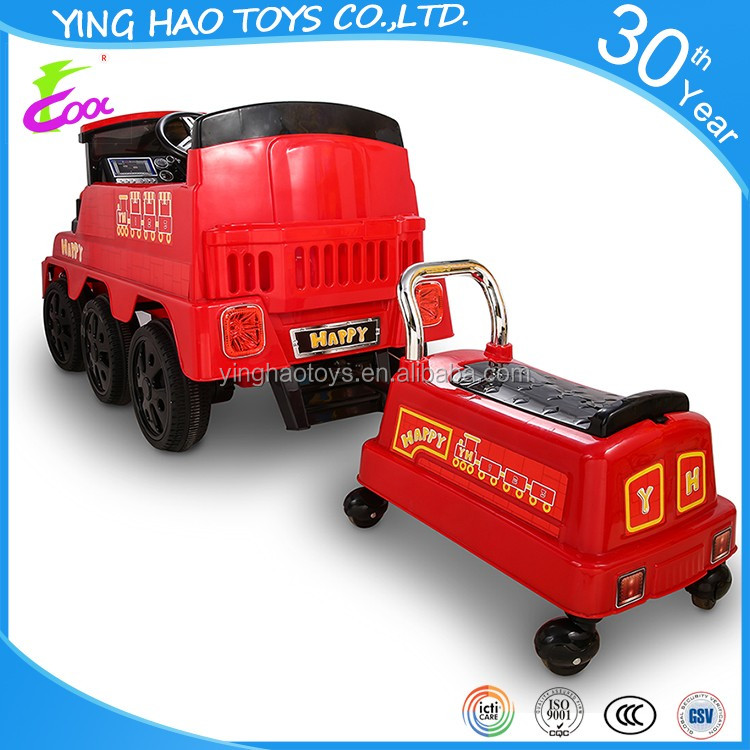 Real Spray Train Battery Operated Ride On Car Kids 12V Electric Powered RC Control Ride On Toy