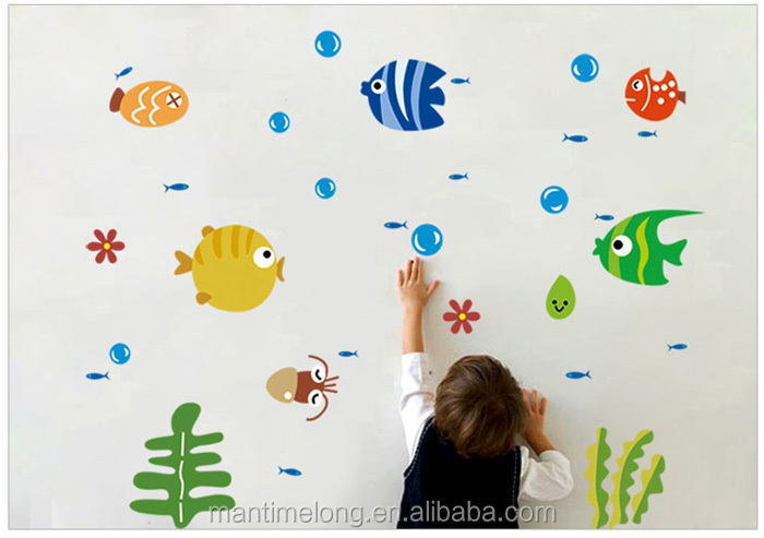 Tropical Fish Bubble Wall Sticker Kids Room Nursery Kitchen Bathroom Wall Decal