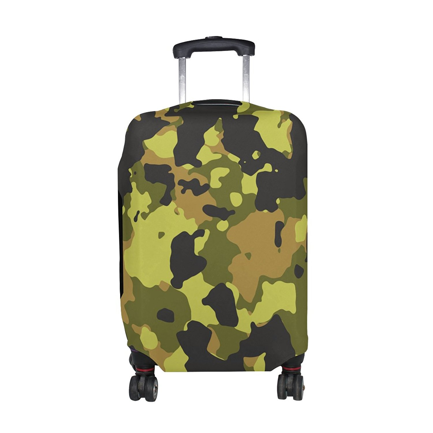 8f58d012e0dd Get Quotations · Military Camo Camouflage Pattern Print Travel Luggage  Protector Baggage Suitcase Cover Fits 23-26 Inch